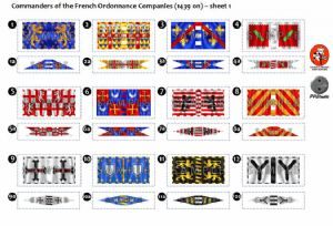 BFL3100  Commanders of the Fench Ordonnance Companies (1439 0n) - Sheet 1